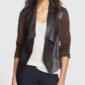 Kut from the Kloth Faux Leather Drape Jacket